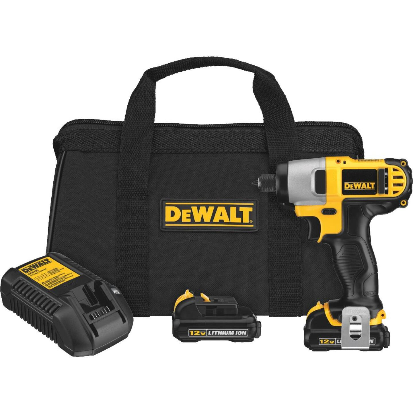 DeWalt XTREME 12V MAX XR Lithium-Ion 1/4 In. Hex Brushless Cordless Impact Driver Kit Image 1