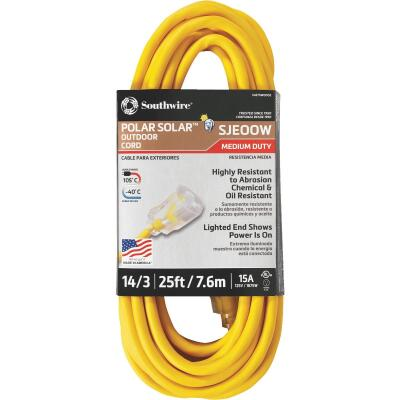 Coleman Cable 25 Ft. 14/3 Cold Weather Extension Cord