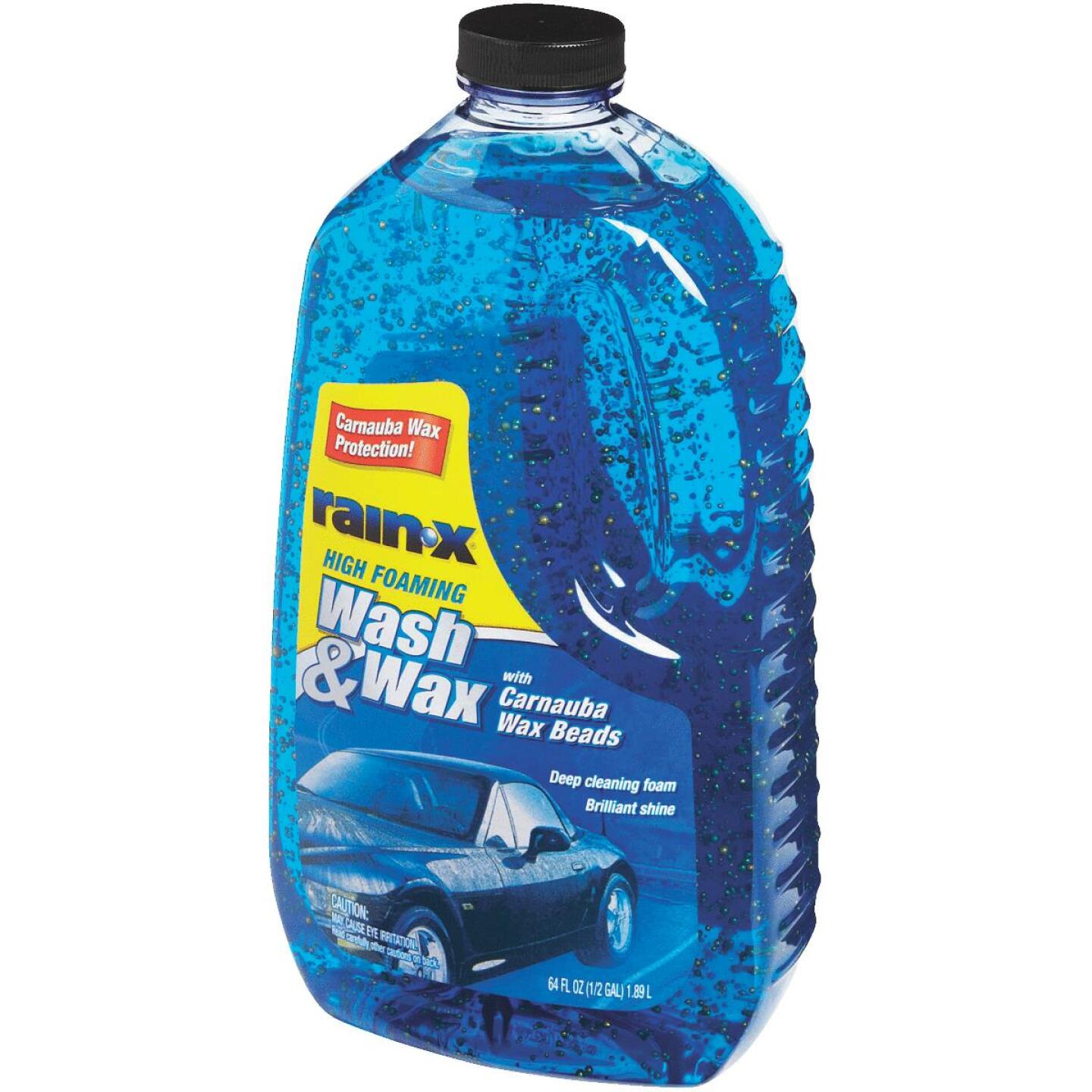 RAIN-X 64 oz Foam with Carnauba Wax Beads Car Wash Image 3