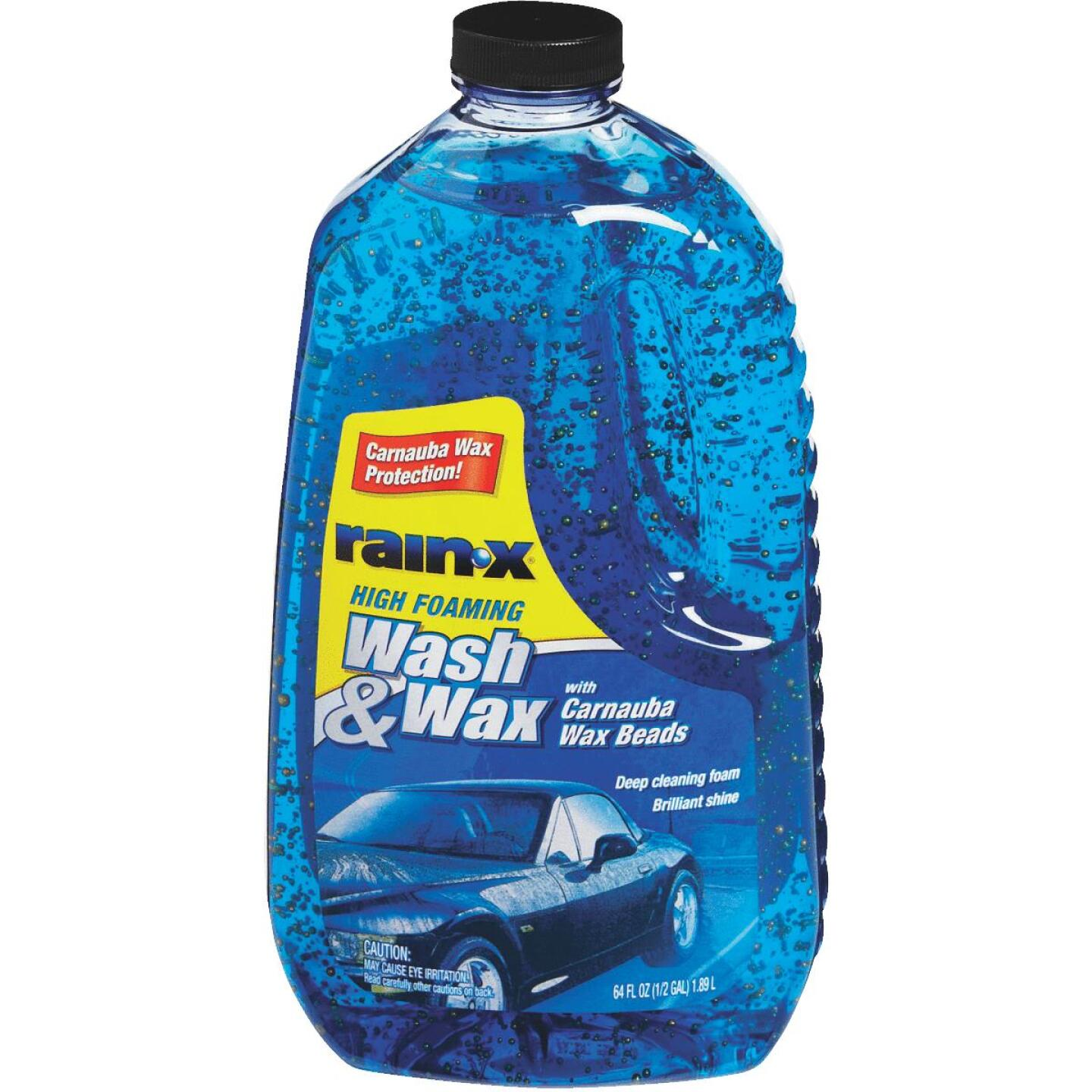RAIN-X 64 oz Foam with Carnauba Wax Beads Car Wash Image 1