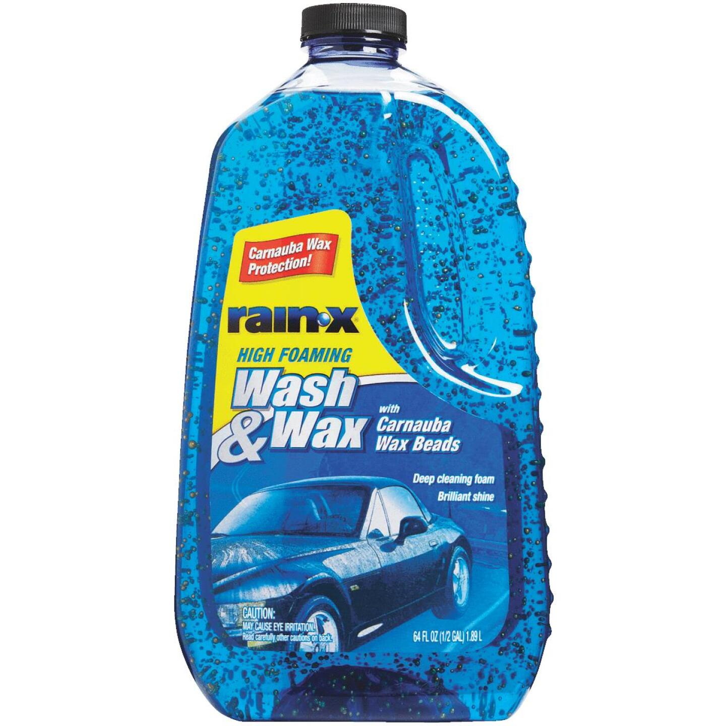 RAIN-X 64 oz Foam with Carnauba Wax Beads Car Wash Image 4