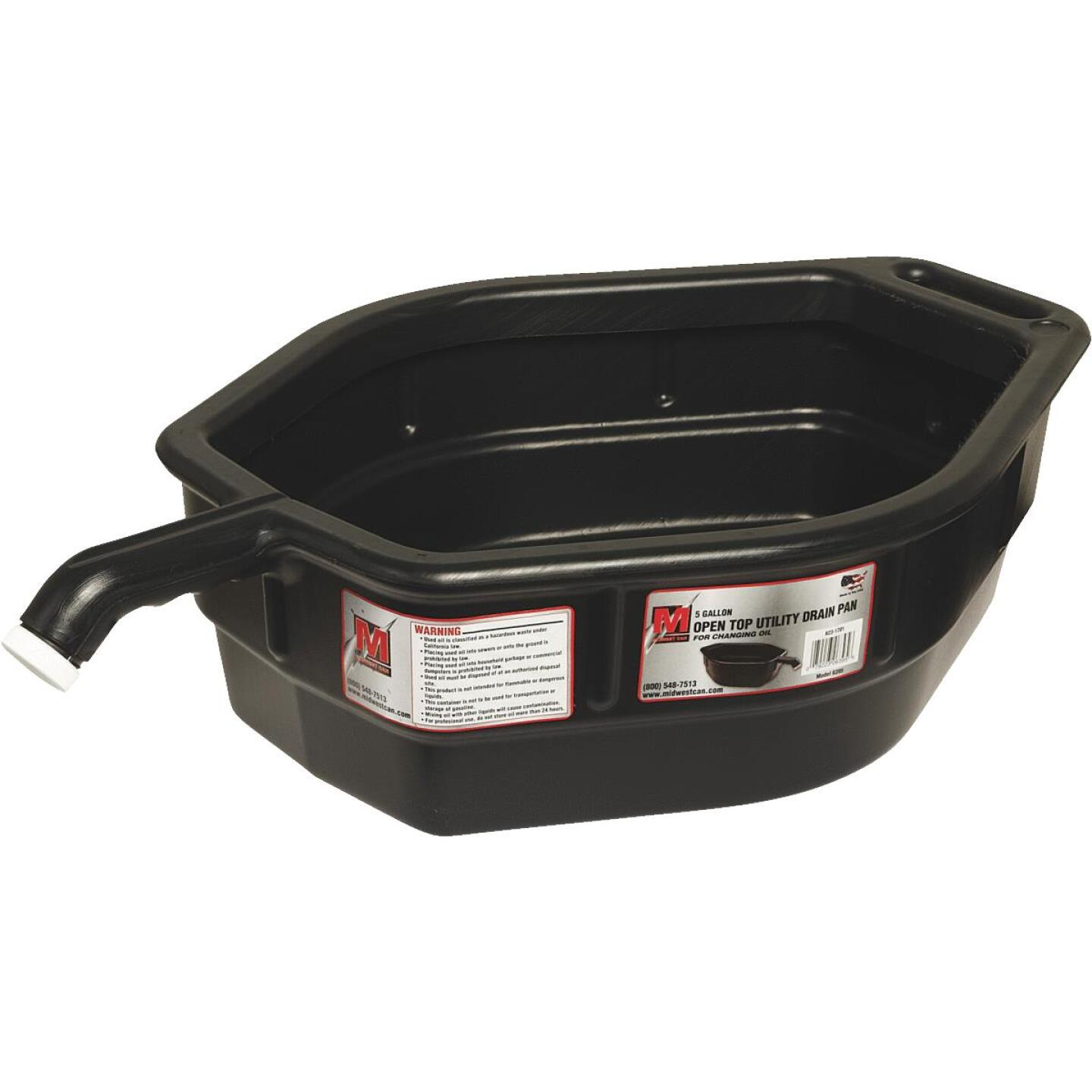 Midwest Can 5 Gal Black Polyethylene Oil Drain Pan Image 2