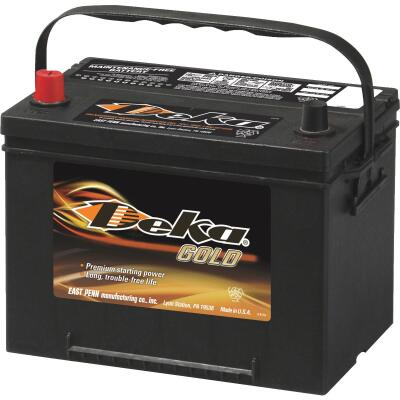 Deka Gold 12-Volt 690 CCA Automotive Battery, Top Post Left Front Positive Terminal
