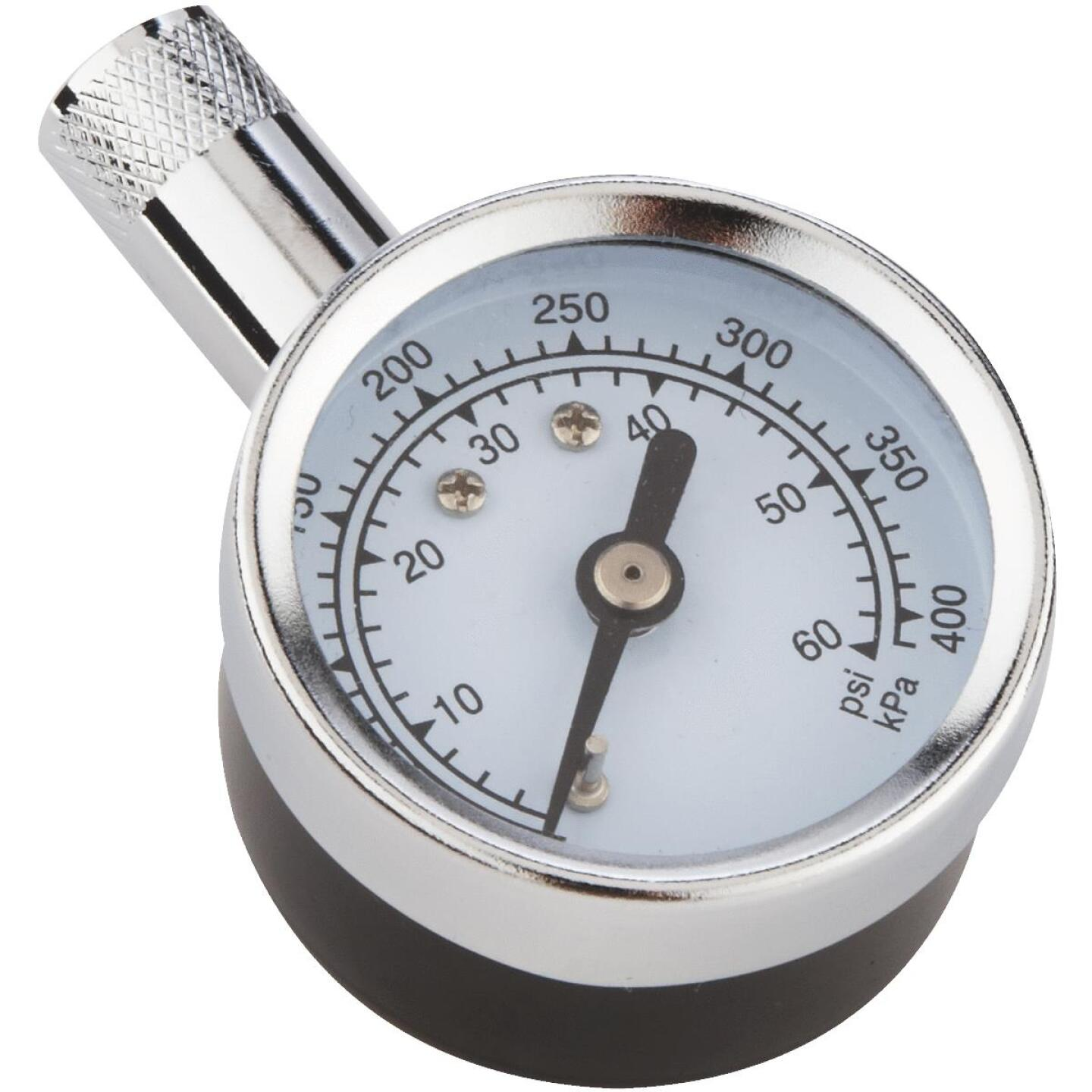 Custom Accessories 5-60 Psi Chrome-plated Tire Gauge Image 1