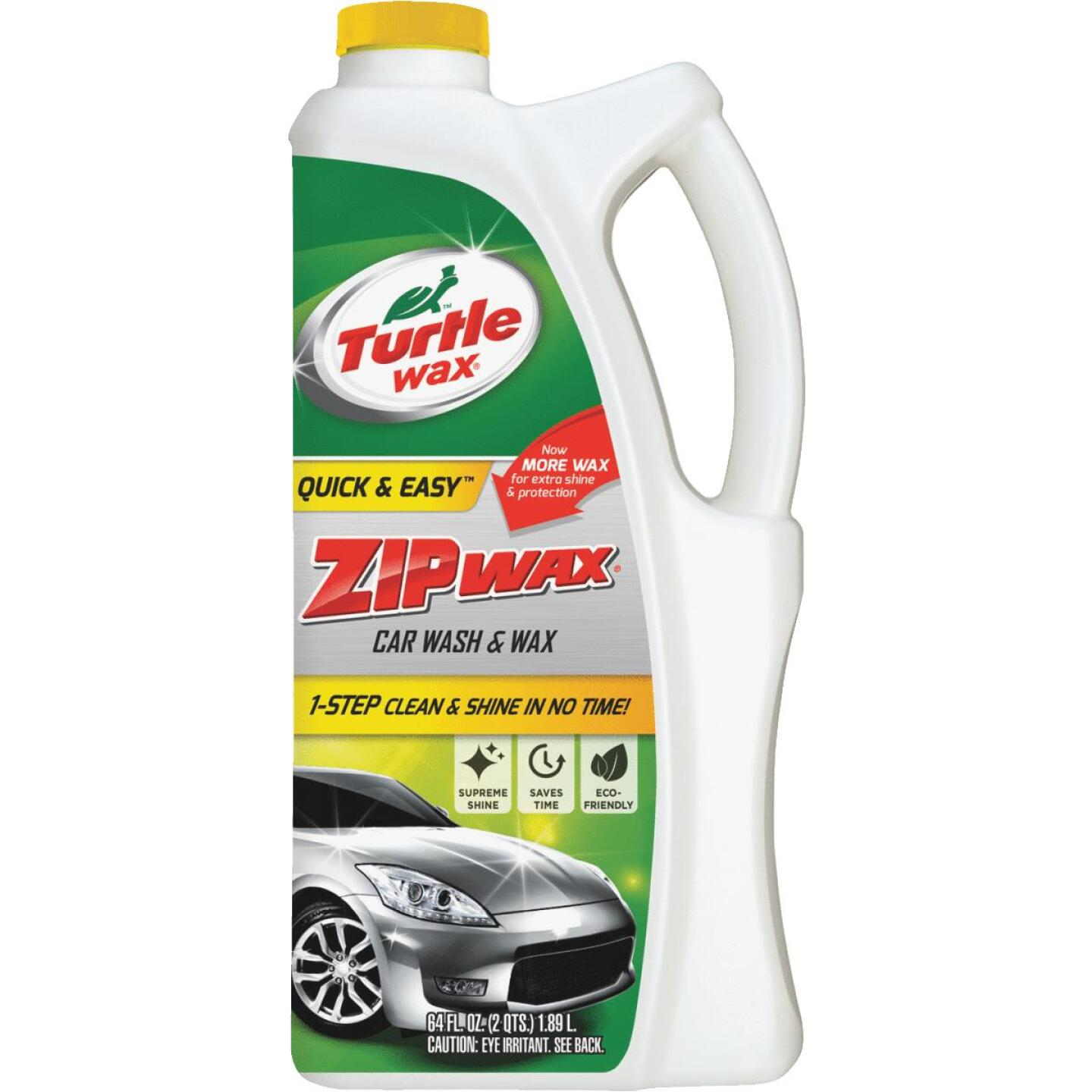 Turtle Wax Zip Wax Liquid 64 oz Car Wash Image 1