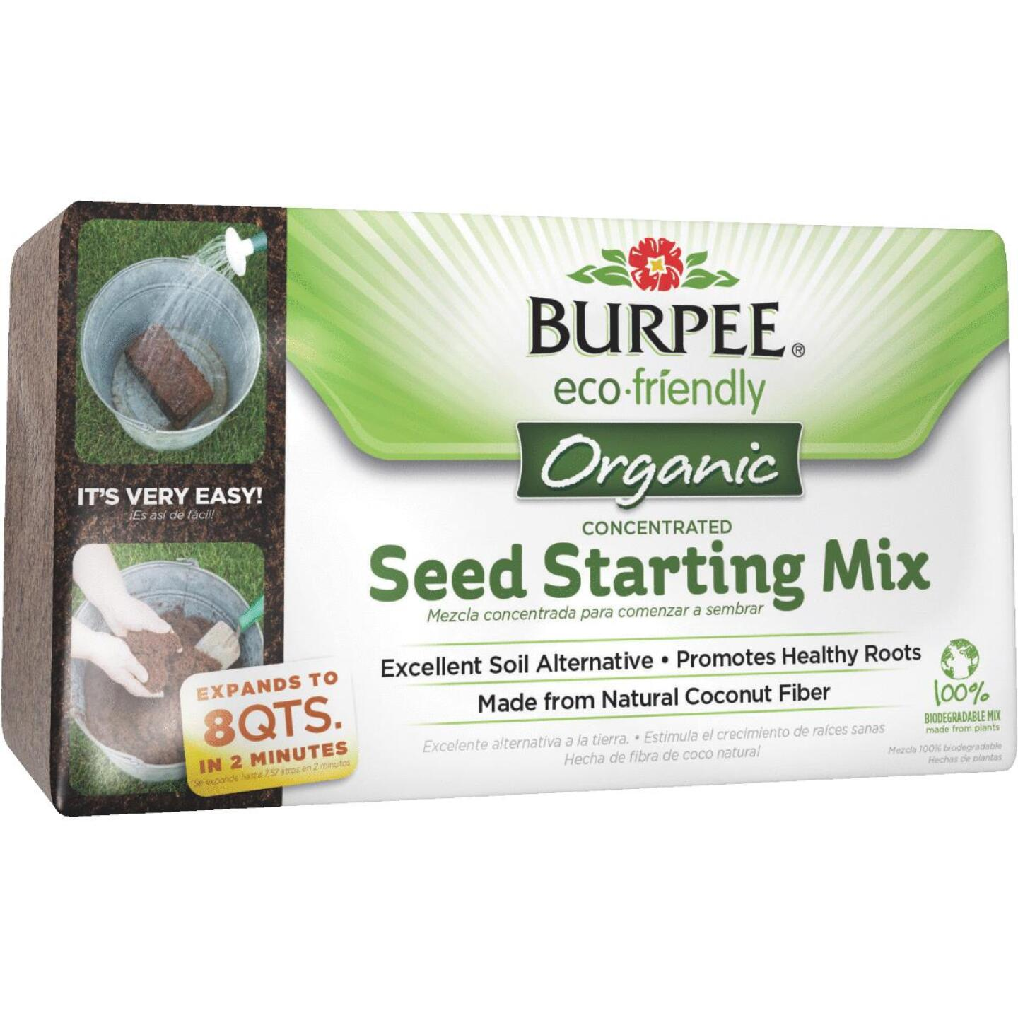 Burpee 8 Qt. Concentrated Brick In-Ground Organic Seed Starting Mix Image 1