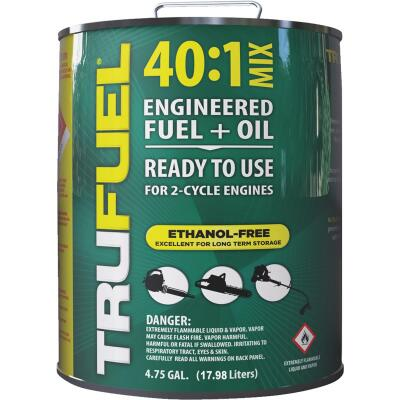 TruFuel 4.75 Gal. 40:1 Ethanol-Free Small Engine Fuel & Oil Pre-Mix