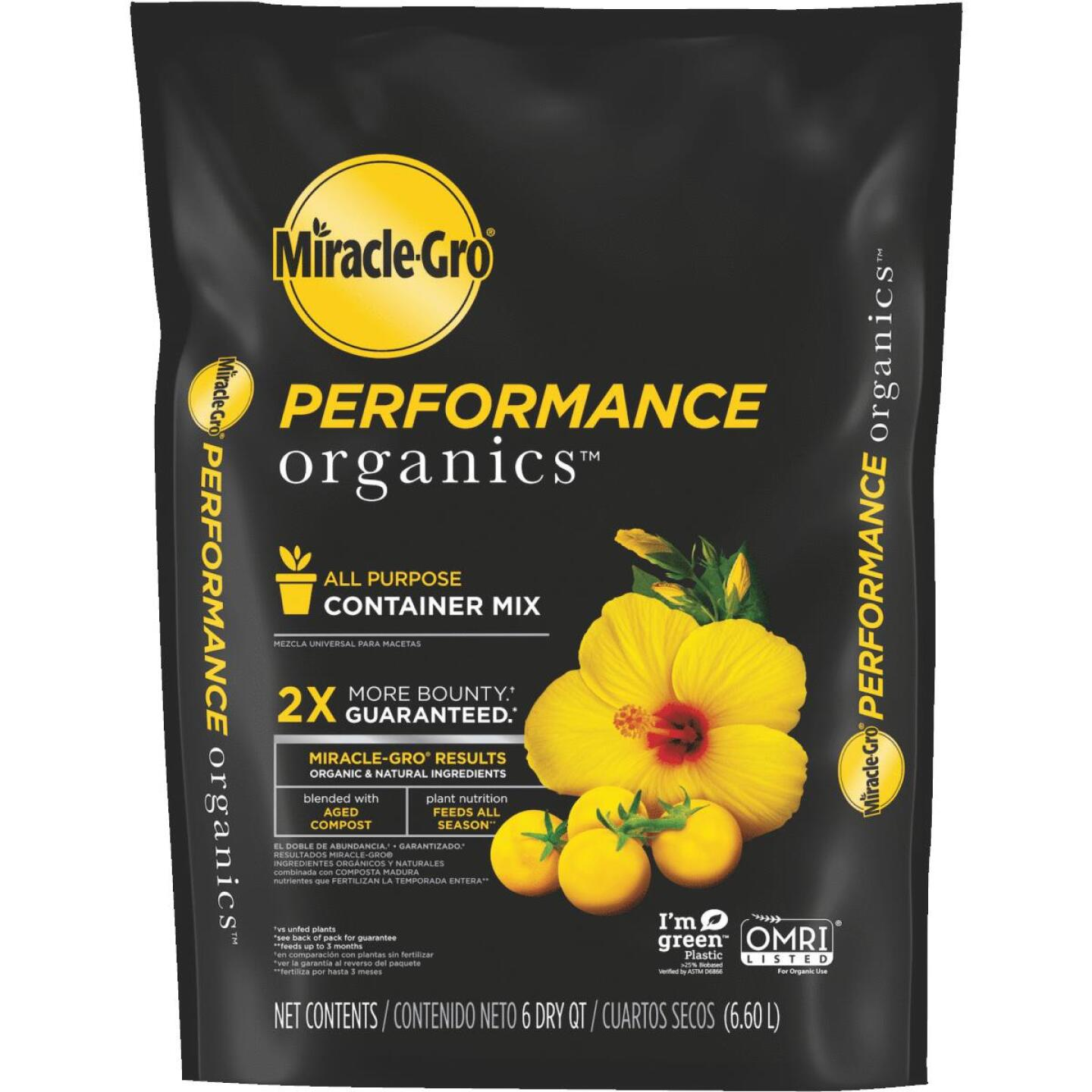 Miracle-Gro Performance Organics 6 Qt. All Purpose Container Mix Image 1